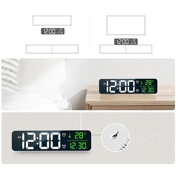 LED Alarm Clock Digital Electronic Alarm Clock Desktop USB Powered Clocks AM/PM Wall Clock For Living Room Table Decors