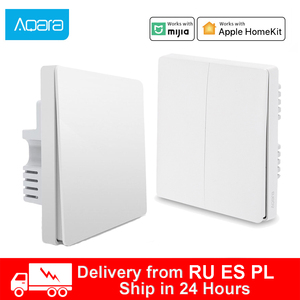 Image 1 - Xiaomi wall switch ZigBee Aqara Wireless Switch Key Smart home Zero Line Fire Wire Light Switch Remote Control For Mijia Homekit