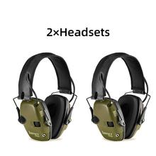 Outdoor sports anti-noise shock sound amplification tactical hunting hearing protection electronic shooting earmuffs earphone FG