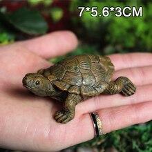 Turtle Figurine Animal Miniature Figures Decoration Animal Statue Resin Craft