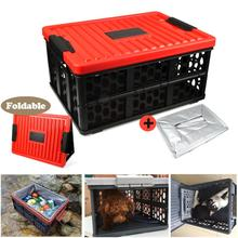 1 PC Foldable 28L Storage Box Car Trunk Organizer Plastic Convenient Sundries fishing pet  travel