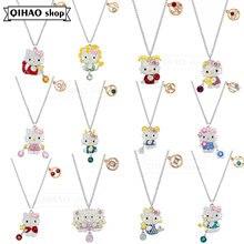 Bijoux fantaisie haute qualité SWA mignon chat 12 Constellation bonjour pendentif collier Simple clavicule chaîne cadeau