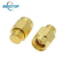 2 pces 2w 3.0ghz 50ohm sma masculino rf terminação coaxial manequim carga conector soquete de bronze em linha reta adaptadores rf coaxial