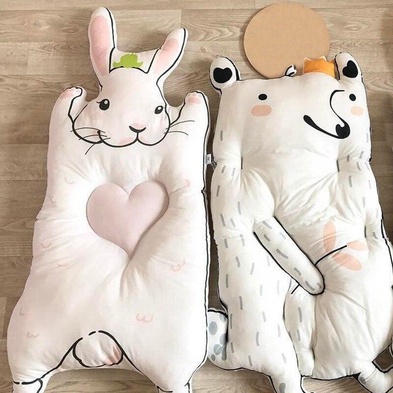 Bébé coton chenille Pad bébé soin plancher Puzzle tapis tapis de jeu 0-2 ans enfants lapin jeu Pad raton laveur tapis enfants tapis