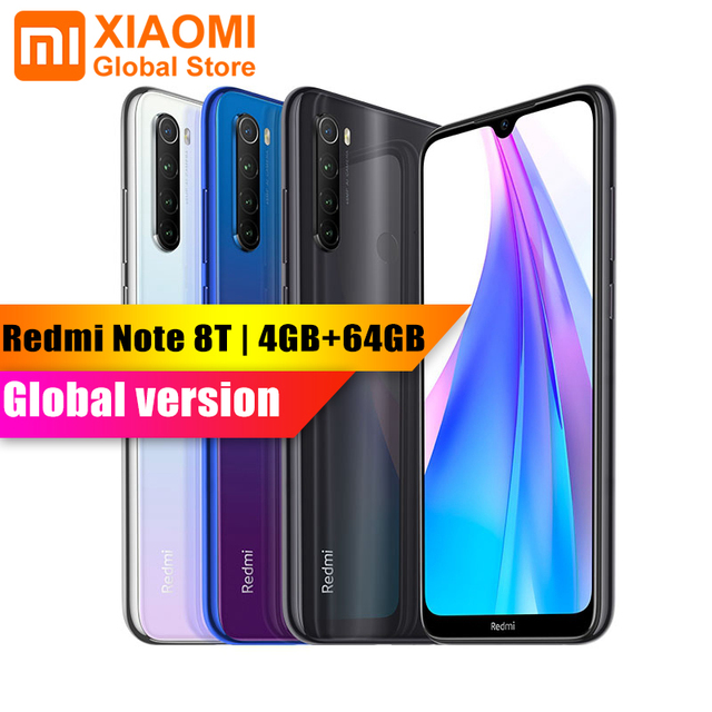 """Xiaomi Smartphone Redmi Note 8T, versión Global, 4GB y 64GB, Snapdragon 665, NFC, carga rápida de 18W, cámara de 6,3 """"y 48MP, 4000mAh"""