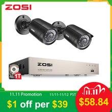 ZOSI 4CH/8CH DVR SISTEMA DE CCTV con 2CH 2 uds 2,0 MP IR las cámaras de seguridad al aire libre 1080N HDMI CCTV DVR Kit de videovigilanciahd-tvihd-tvi dvrhd-tvi camera