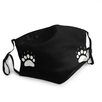 Harbour City Bears Paws Reusable Unisex Adult Face Mask Animal Paw Print Anti Haze Dust Protection Cover Respirator Mouth Muffle image