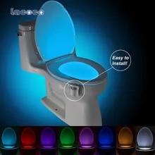 Toilet-Seat Wc-Light Changeable-Lamp Battery-Powered Motion-Sensor LED Bathroom 8-Colors