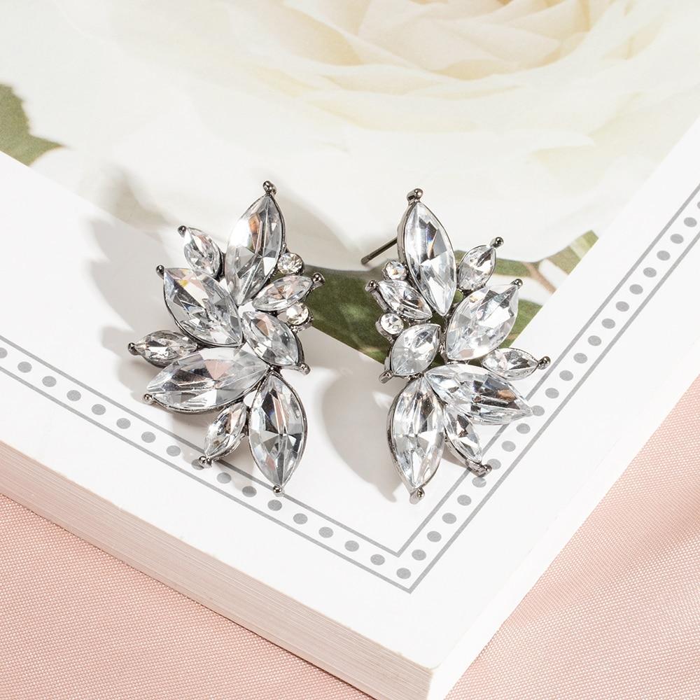 Fashion Crystal Water Drop Dangle Earrings For Women Girl Party Zircon Stone Gold Earrings 2020 Elegant Luxury Charm Jewelry