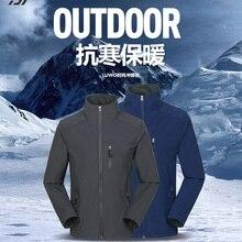 Daiwa Водонепроницаемый Рыболовная куртка Мужская Мандарин Воротник Кемпинг Туризм рыба одежда зимняя термальная ветрозащитная верхняя одежда