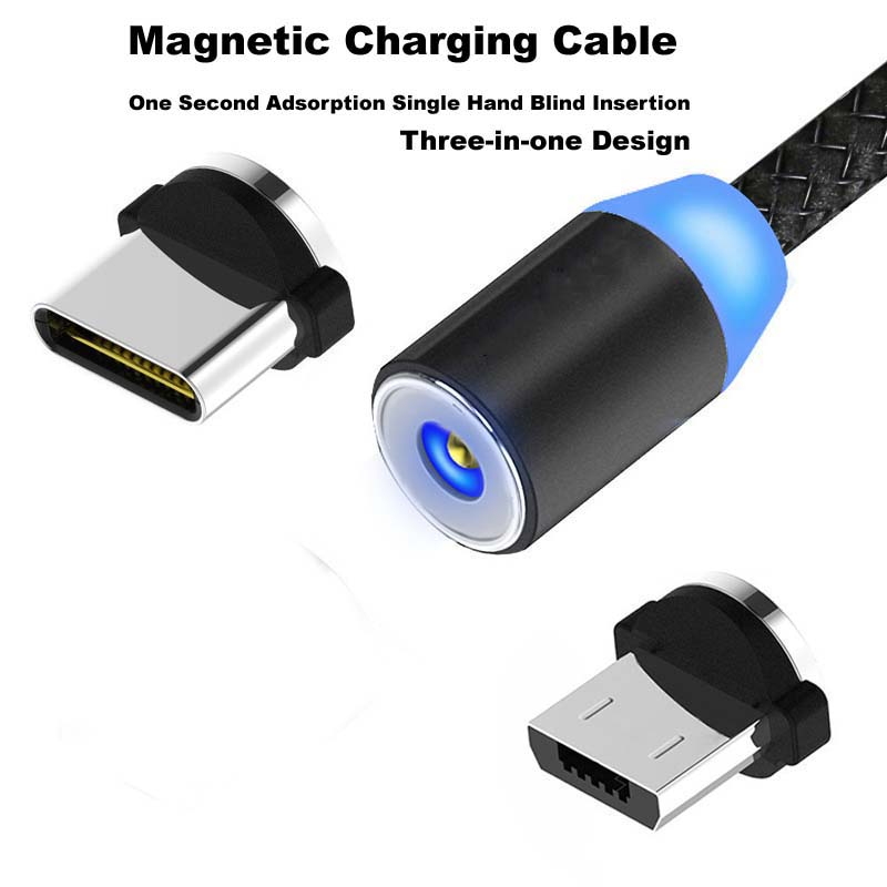 2020 Magnet Charger Data Charge Micro USB Cable Mobile Phone Cable USB Cord Magnetic USB Cable Fast Charging USB Type C Cable