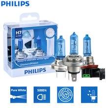 Philips Diamant Vision H1 H4 H7 H8 H11 9005 9006 HB3 HB4 12V DV 5000K Cool White Licht auto Halogen Scheinwerfer Nebel Lampe (Twin)