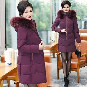 Image 3 - בתוספת גודל 5XL 2020 חורף מעיל נשים ארוך מעיל מקרית פרווה צווארון חורף מעייל דובון סלעית חם למטה מעיל הלבשה עליונה
