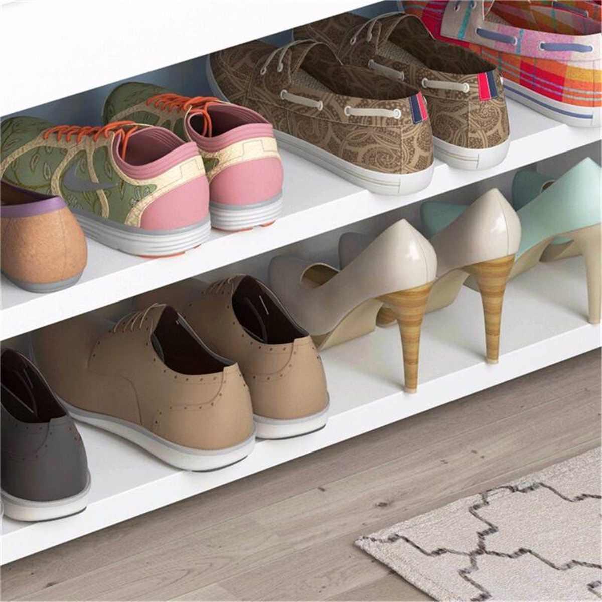 2 الطبقة تخزين الأحذية البراز غرفة المعيشة رف الأحذية تغيير بسيط الأحذية مقعد منظم خزانة المدخل مقعد كرسي حامل الرف