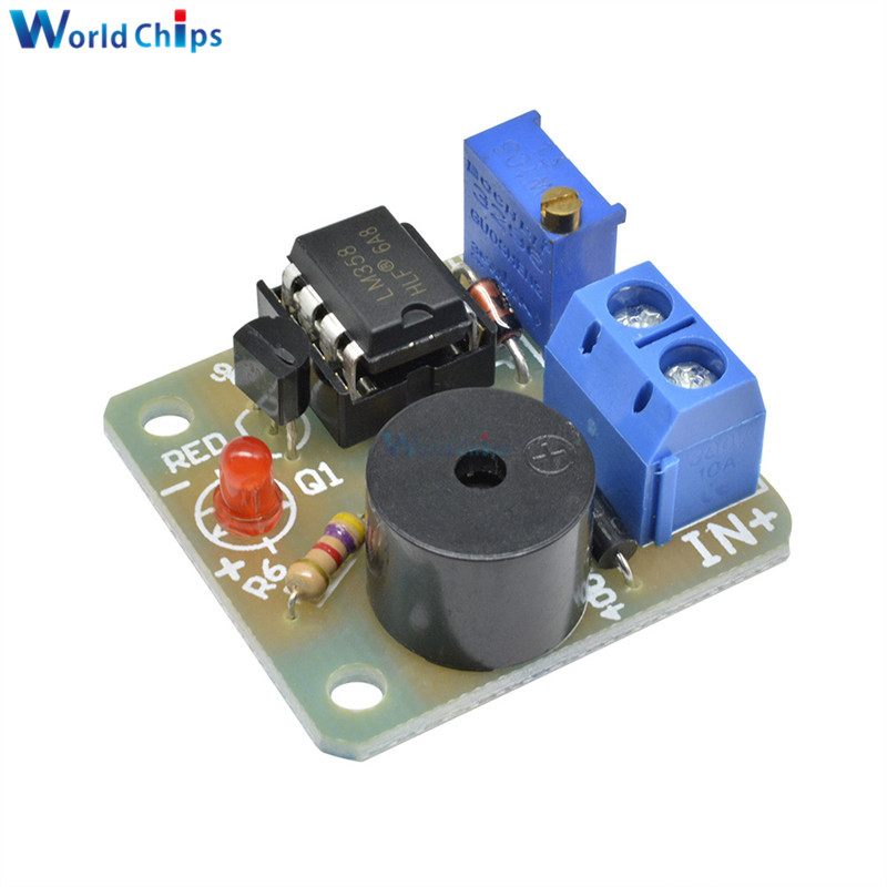 9V/12V Battery Sound and Light Alarm Against Over-discharge Protection Board Low Voltage /Under Voltage Protection Module