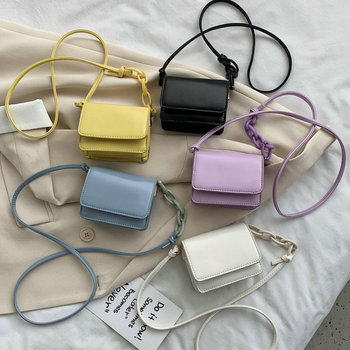 2020 new female bag small bag popular wild texture messenger bag fashion shoulder small square bag цена 2017
