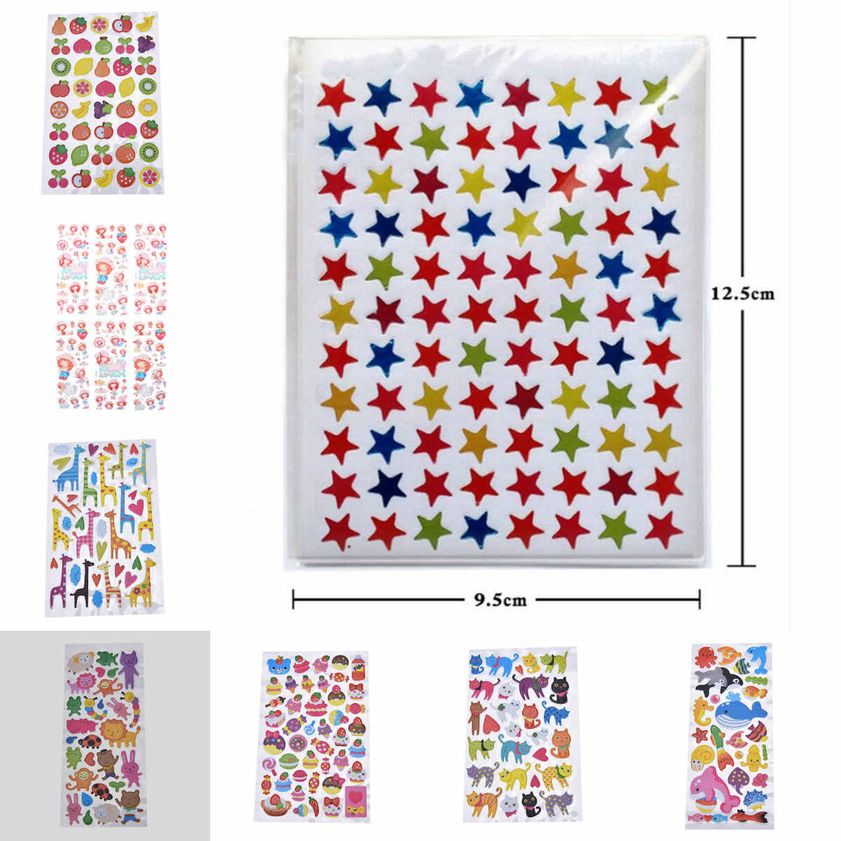 10 Sheets Star Shape Stickers Labels For School Children Cute Teacher Reward Sticker Gift Kid Hand Body Sticker Toys