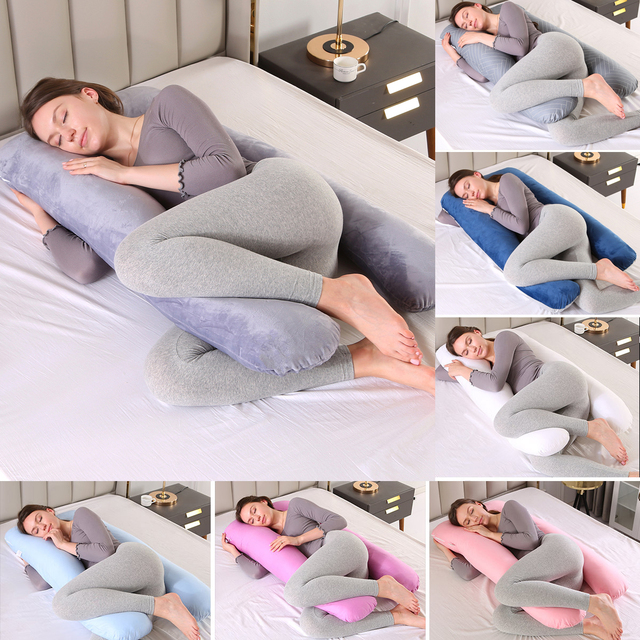 U-shaped Pregnancy Pillows Comfortable Maternity Belt Body Pregnancy Pillow Women Pregnant Side Sleepers Cushion for Bed 1