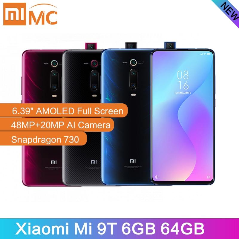 Original Xiao mi mi 9T 6GB 48MP 64GB Telemóvel Snapdragon 730 AI AI Câmera Traseira 4000mAh 6.39
