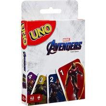 Mattel – jeu de cartes UNO Marvel Avengers, carte Super Mario, divertissement en famille, fête, Poker, jouets pour enfants, cartes de bureau