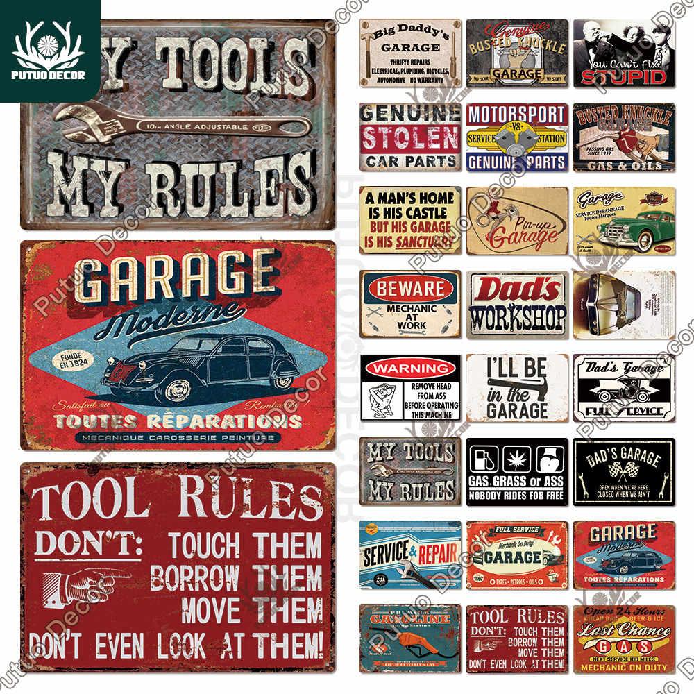 Serviço confiável Estilo Vintage Retrô Réplica Metal Estanho sinal presente Garagem