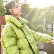 New scene shooting down jacket female winter light han edition loose bf cotton-padded clothes ins web celebrity bread