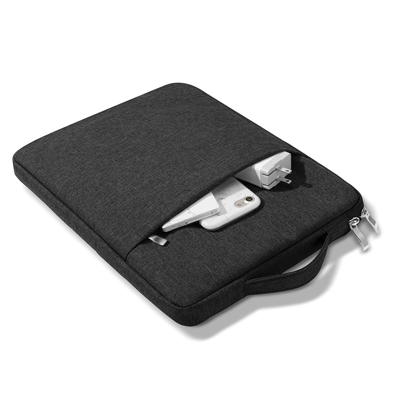 black Black For iPad 10 2inch 2020 8th Generation Tablet Handbag Zipper Carrying Bag Compatible 2019 7th 10