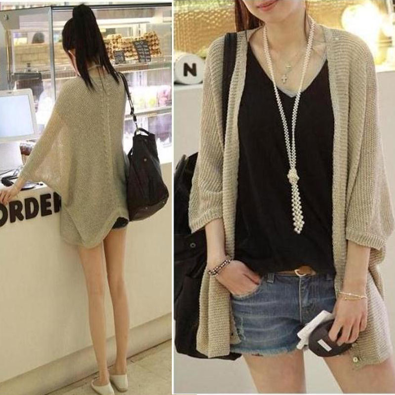 Cardigan Feminino Knit A Female 2019 The Spring Summer Autumn Period And New Chic In Thin Cardigan Batwing Coat, Leisure Jacket