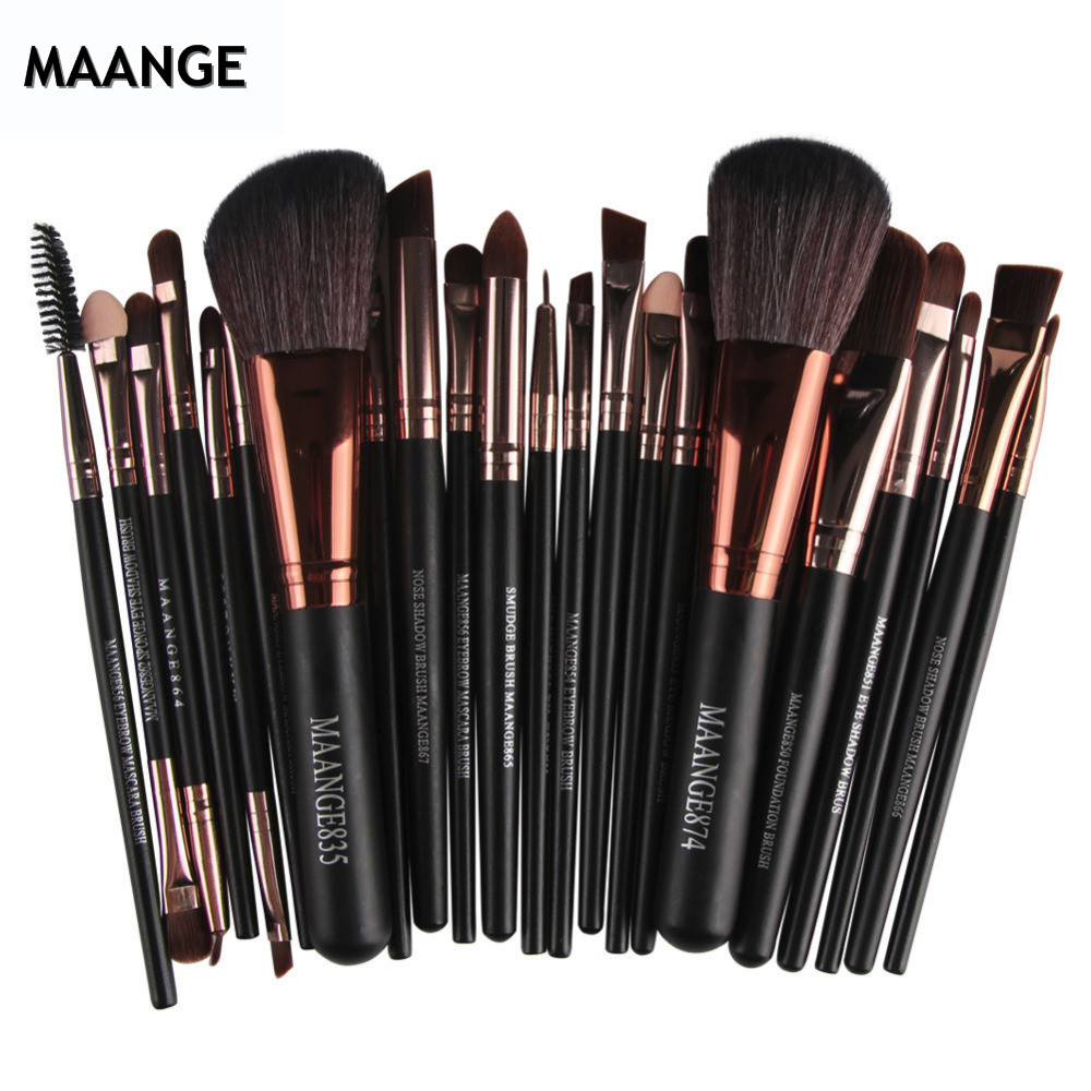 Eyeshadow Foundation Eyebrow-Eyeliner Makeup-Brushes-Powder Blush Cosmetic Synthetic-Hair