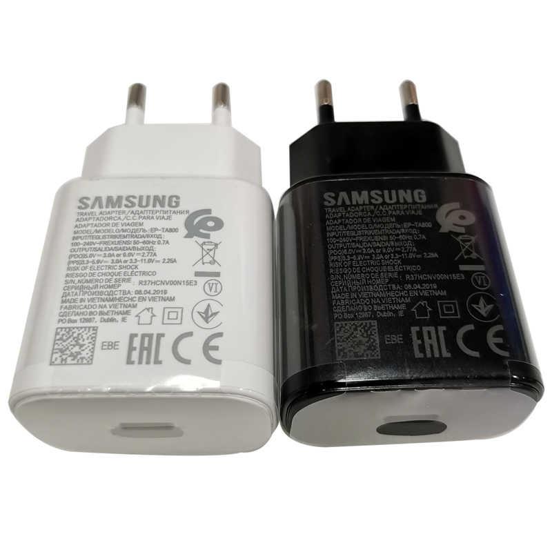 Samsung Note 10 20 супер быстрое зарядное устройство 25 Вт EU Travel PD PSS Быстрая Зарядка адаптер для Samsung note 10 20 s20 s10 plus A70 A80 s20 +