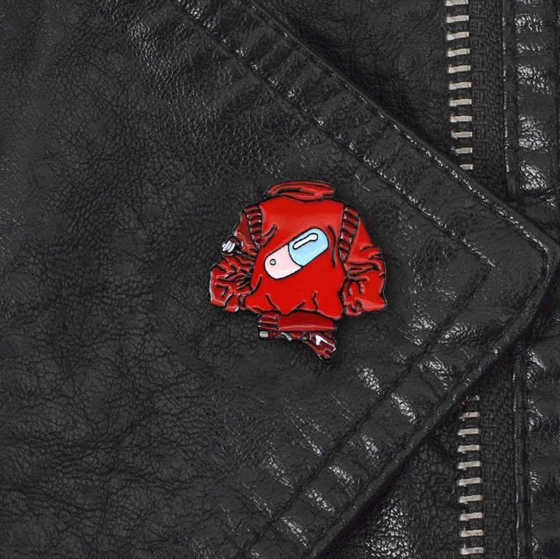 Nuovo creativa della capsula posteriore rosso creativo bello di modo del gocciolamento spilla tendenza distintivo