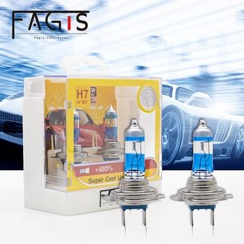 Fagis 2pcs White H1 H3 H4 H7 55W 12V Halogen Lamp Super Bright White Bulb Halogen Headlight Car Head Lamp Halogen Auto Lighting цена 2017