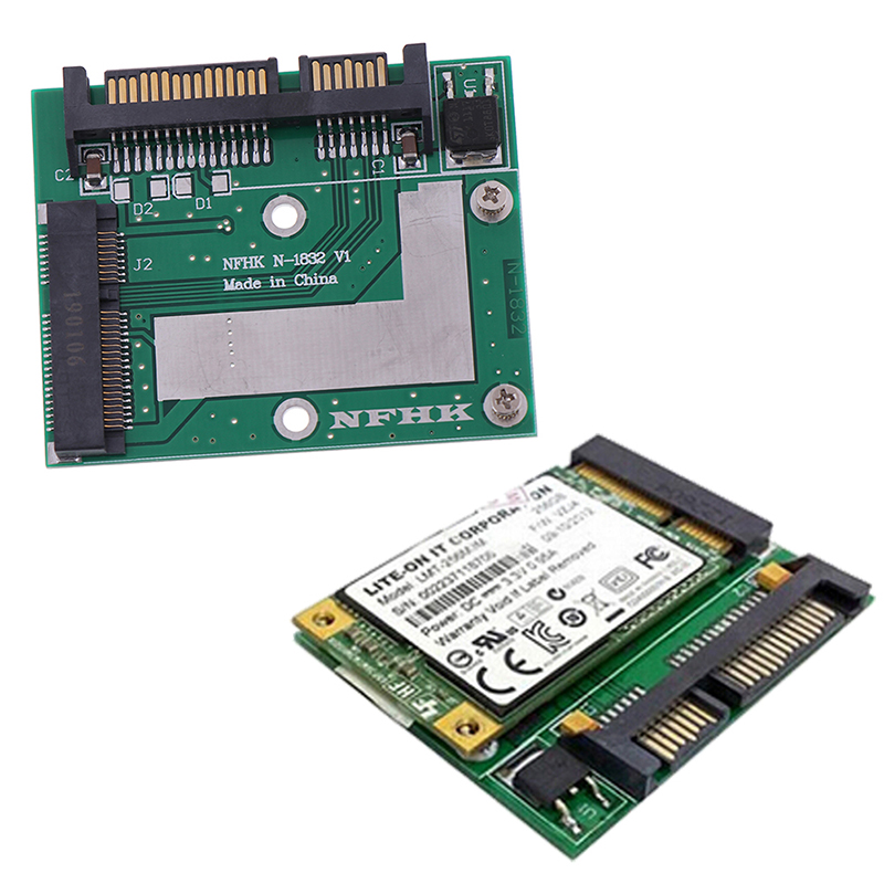 <font><b>mSATA</b></font> SSD to 2.5'' <font><b>SATA</b></font> 6.0gps <font><b>adapter</b></font> converter card module board mini pcie ssd image