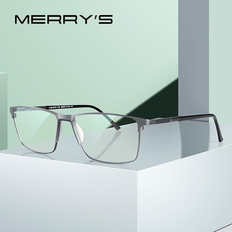 MERRYS-gafas con diseño de rayo de luz azul para hombre, anteojos con protección UV400, de aleación de titanio, S2170FLG