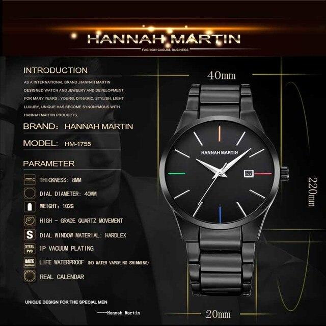 Купить мужские часы hannah martin топ бренд роскошные деловые для мальчиков картинки цена