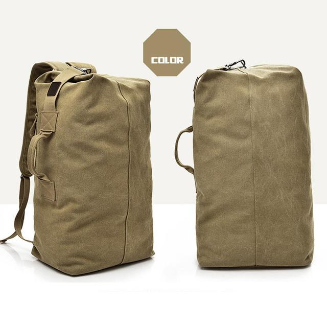Traveling Backpack Backpack Field Survival Camping Bag High Capacity Canvas Men Outdoor Travel Outdoors Practical Picnic 4