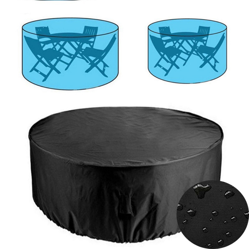 Round Outdoor Garden Furniture Rain Cover Waterproof Oxford Sofa Protection Garden Patio Rain Snow Chair Dust Proof Covers