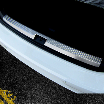 WELKINRY for VW Golf 7 7.5 MK7 VII MK7.5 2013-2019 rear tail box gate back door sill threshold scuffproof guard plate pedal trim