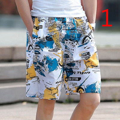 Printed Joker Shorts Men's Loose And Quick-drying Pants Pants Summer Couple Beach Pants Large Size