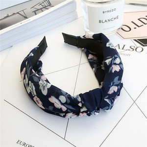 Women Girl Ladies Headband Twist Hairband Floral Bow Knot Cross Tie Velvet Headwrap Hair Band Hoop Head Accessories Hot(China)