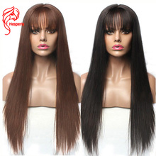 Hesperis Lace Front Human Hair Wigs With Bangs Brazilian Remy 13X6 Lace Front Wigs Pre Plucked 5x5 Silk Base Lace Closure Wigs