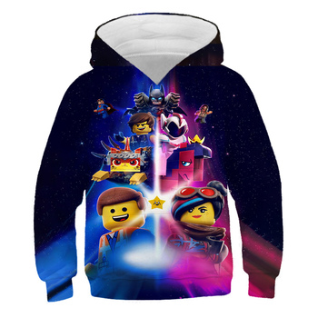 New Boys Hoodie Legoes T-shirts Baby Ninjago Girls Hooded Long Sleeves chothing Children Spring Autumn Clothes Toddler Outerwear 4