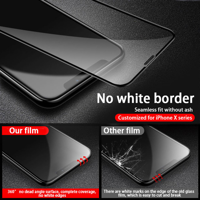 3PCS Full Cover Protective glass on For iPhone 11 12 Pro Max tempered Glass Film iPhone X XR XS Max Screen Protector Curved Edge 3
