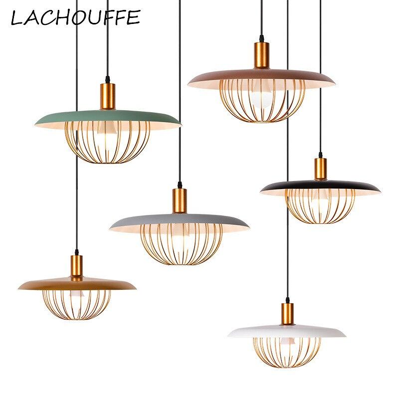 Modern Metal Pendant Lights Industrial Led Hanging Lamp for Dining Room Restaurant Lighting Fixtures Creative Loft Luminaire E27