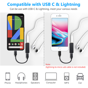 Image 4 - eSYNiC 192kHz USB C to 3.5mm DAC Converter Portable Headphone Amplifier Type C to 3.5mm Headphone Adapter Amp For Android iphone