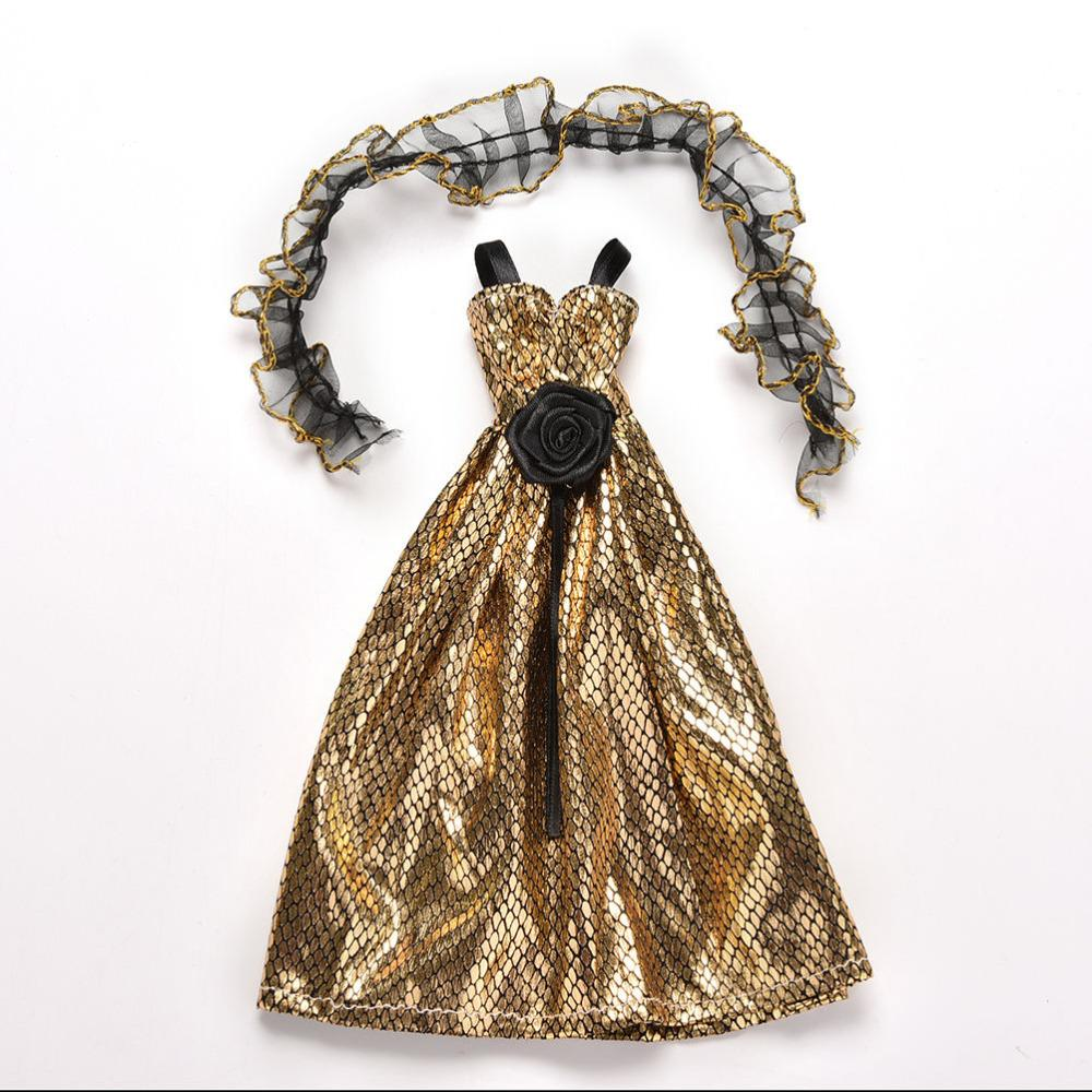1 Pc Elegant Crocodile Grain Doll Accessories Clothes Dress For  Dolls With Shawl Accessories Supplies