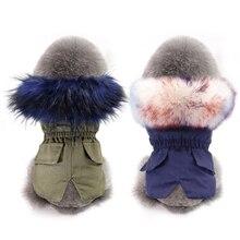 Ropa de perro de piel sintética de lujo ropa de invierno caliente para mascotas ropa de Chihuahua chaqueta de perro pequeño para Bulldog Francés