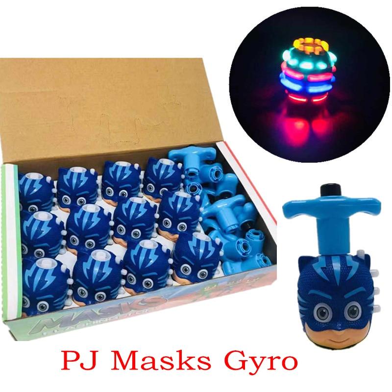 PJ Masks LED Light Music Gyro Juguete Catboy Owlette Gekko Figures Halloween Pj Mask Anime Birthday Gift Toys For Children 7D08