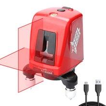 Перекрестный красный лазерный уровень Профессиональный 360 Вращающийся горизонтальный и вертикальный самонивелирующийся измеритель расстояния с usb-портом