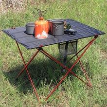 Table Outdoors Beach Aluminium-Alloy Lightweight for Picnic BBQ Park